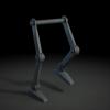 Mon premier test d'animation : un cycle de marche, pas très original mais ça fait les dents!